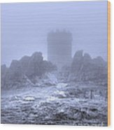 Cold Tower Of Mist Wood Print