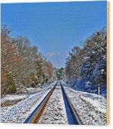 Cold Tracks Wood Print