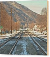 Cold Tracks Through Montgomery Wood Print