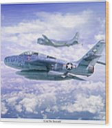 Cold War Sentinels Wood Print