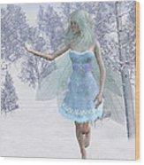 Cold Winter Fairy Wood Print