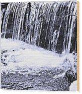 Cold Winter Falls Wood Print