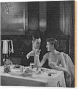 Colin Clive And Rose Hobart At Waldorf Wood Print