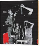 Collage Body Talk Poster Prize Jello Wrestling Contest Gay Bar Tucson Arizona 1992 Wood Print