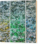 Collage Liquid Rainbow 1 - Featured 3 Wood Print
