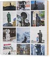 Collage - Moscow Monuments - Featured 3 Wood Print by Alexander Senin