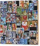 Collage Snowman Horz Photo Art Wood Print