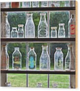 Collector - Bottles - Milk Bottles  Wood Print