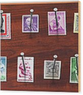 Collector - Stamp Collector - My Stamp Collection Wood Print