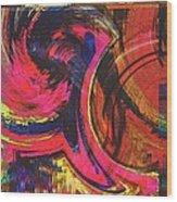 Collide  Wood Print by Kiara Reynolds