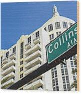 Collins Avenue Wood Print