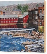 Collinsville Axe Factory Wood Print by Sharon Farber