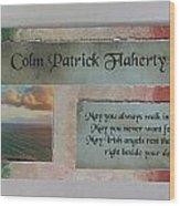 Colm Irish Name Plate Wood Print
