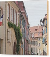 Colmar Small Street Wood Print