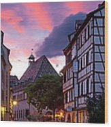 Colmar Twilight Wood Print
