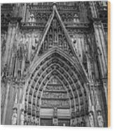 Cologne Cathedral 11 Bw Wood Print