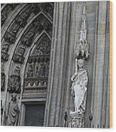 Cologne Cathedral South Side Detail 1 Wood Print