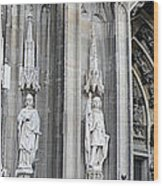 Cologne Cathedral South Side Detail 2 Wood Print