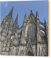 Cologne Cathedral South Side Rooflines Wood Print