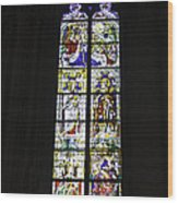 Cologne Cathedral Stained Glass Window Coronation Of The Virgin Wood Print