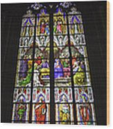 Cologne Cathedral Stained Glass Window Of Pentecost Wood Print