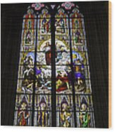 Cologne Cathedral Stained Glass Window Of St Paul Wood Print