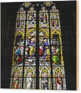Cologne Cathedral Stained Glass Window Of St Peter Wood Print