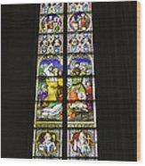Cologne Cathedral Stained Glass Window Of St. Stephen Wood Print