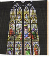 Cologne Cathedral Stained Glass Window Of The Adoration Of The Magi Wood Print