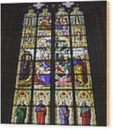 Cologne Cathedral Stained Glass Window Of The Lamentation Wood Print