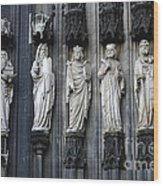 Cologne Cathedral Statuary Wood Print