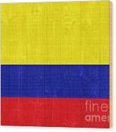 Colombia Flag Wood Print