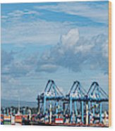 Colon Container Terminal, Panama Canal Wood Print