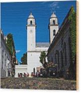Colonia Cobblestones Wood Print