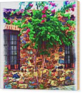 Colonia Del Sacramento Window Wood Print