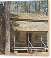 Colonial Cabin Wood Print