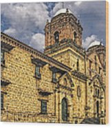 Colonial Church Wood Print