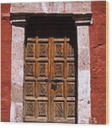 Colonial Door Arequipa Peru Wood Print