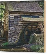 Colonial Grist Mill Wood Print