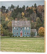 Colonial Home Wood Print