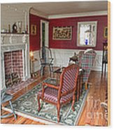 Colonial Parlor Wood Print by Olivier Le Queinec