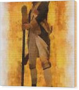 Colonial Soldier Photo Art  Wood Print