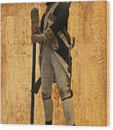 Colonial Soldier Wood Print by Thomas Woolworth