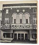 Colonial Theater In Phoenixville In Sepia Wood Print