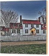 Colonial Williamsburg George Tucker House Wood Print