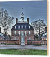 Colonial Williamsburg Governor's Palace Moonrise Wood Print