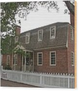 Colonial Williamsburg Scene Wood Print