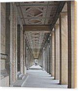 Colonnade Neues Museum Berlin Wood Print