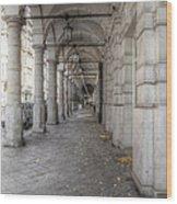Colonnaden In Hamburg Germany Wood Print