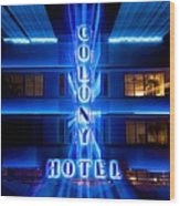 Colony Hotel 2 Wood Print
